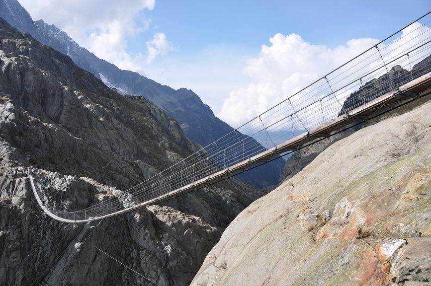 Kneifen vor der Hängebrücke, Angst, Mut